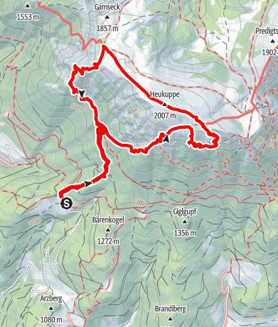 Map / Rax Süd-West Seite