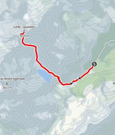 Map / Zufrittspitz - Start in Ulten, Weissbrunnsee