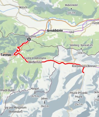Map / Von Thörl-Maglern nach Kranjska Gora