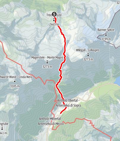 Karte / E3 Kasseler Hütte - Antholzer Scharte - Antholz