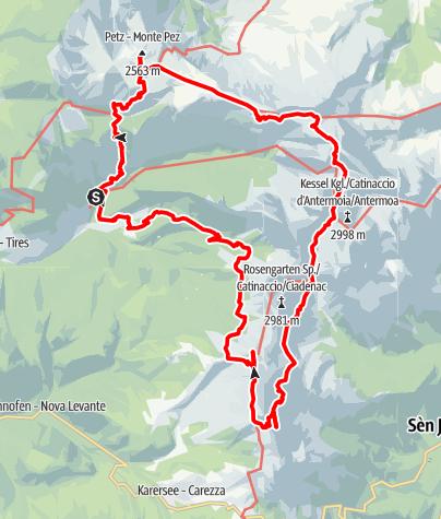 Karte / 4 Tage in König Laurins Reich