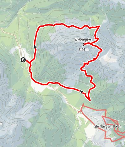 Karte / Guffertrunde Nordanstieg