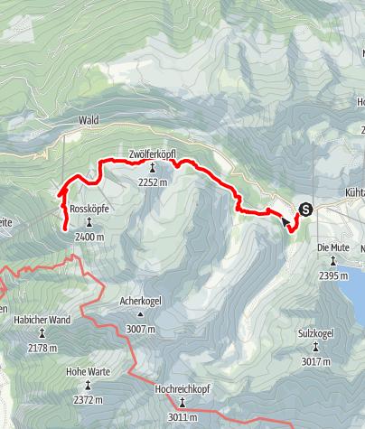 Karte / Dortmunder Hütte - Bielefelder Hütte