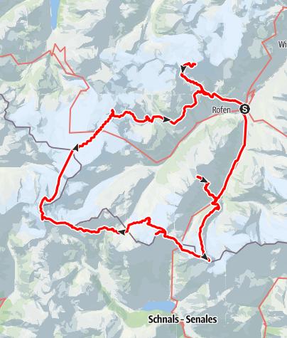 Karte / Oetztaler Weißkamm