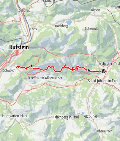 Karte / Wilder Kaiser Steig