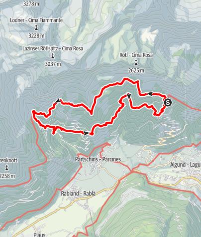 Karte / Meraner Höhenweg Teilstr.
