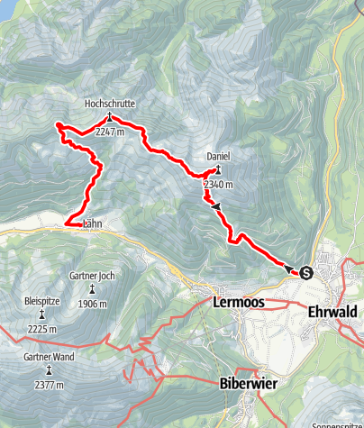 Map / Wunderschöne Tour mit Daniel, Hochschrutte und Pitzenegg
