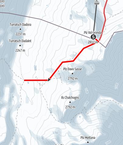 Karte / Tourenplanung am 1. Dezember 2014
