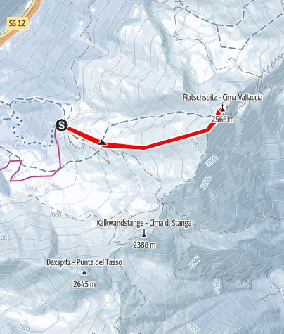 Karte / Enzianhütte-Flatschspitze