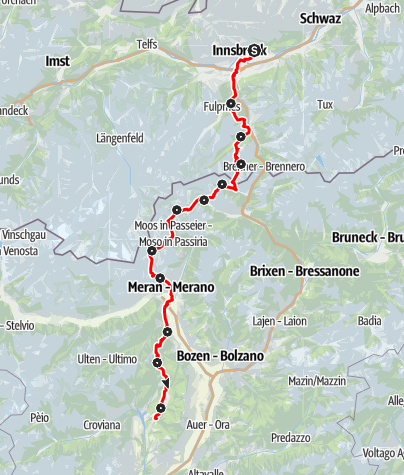 Karte / Romedius-Pilgerweg Übersicht