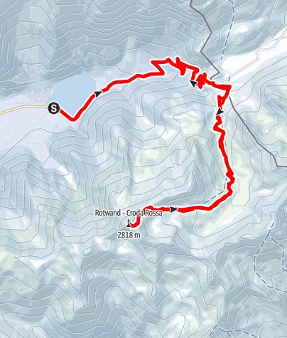 Karte / Rotwand (2818 m) - Antholz