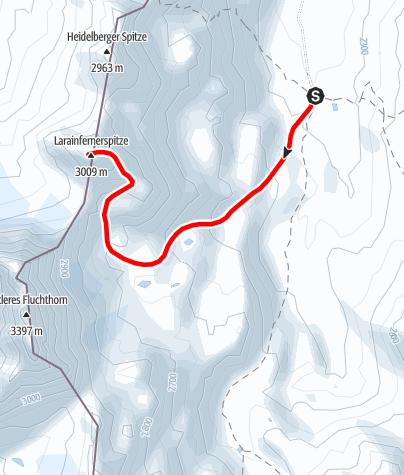Karte / Piz Larain (Normalweg)