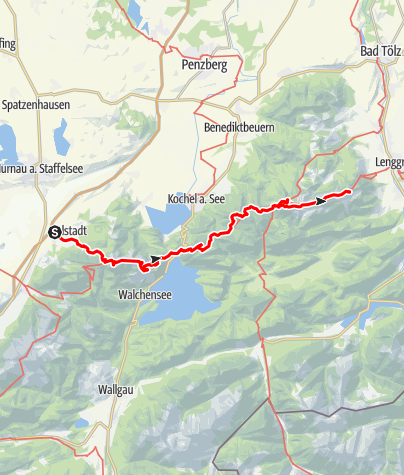 Karte / 3 Tagestour Heimgarten-Benediktenwand