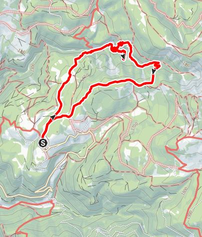 Karte / Rundwanderung Bletterbach ab GEOMuseum Radein