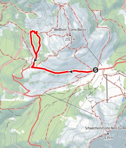 Karte / Panorama Bletterbach ab Jochgrimm