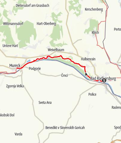 Map / 03 Südalpenweg, E01: Bad Radkersburg - Mureck
