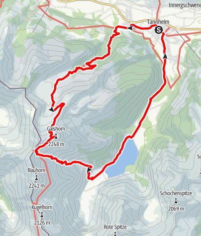Karte / Tannheim - Geißhorn - Tannheim