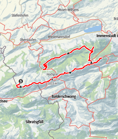 Karte / Nagelfluhkette und Prodelkamm