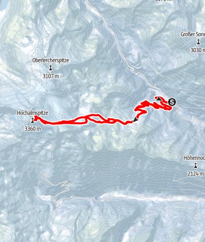 Karte / Hochalmspitze - Tauernkönigin ab Gmünder Hütte