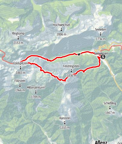 Karte / Seewiesen-Voisthaler Hütte - Rundtour