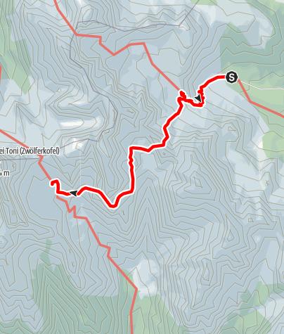 Map / Klettersteig Tour durch die Dolomiten Etappe 1