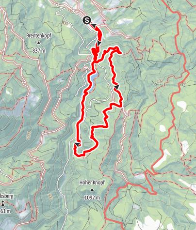 Karte / Tourenplanung am 26. April 2015
