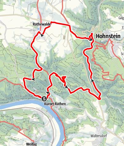 Karte / Bastei und andere Sehenswürdigkeiten