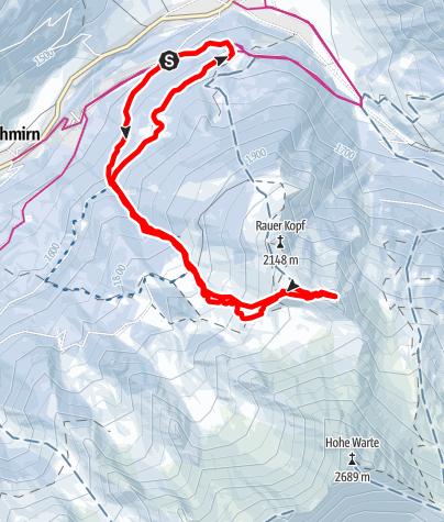 Karte / Schneeschuhtour - Hoher Napf im Schmirntal
