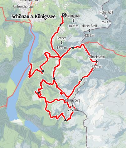 Map / Gipfeltour durchs westliche Hagengebirge