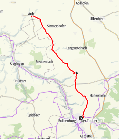 Karte / Kaufmannszug 2019 Tag 8, Rothenburg - Aub- Tag 9 Ruhetag