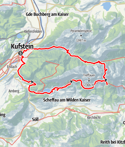 Map / Wilder Kaiser Juni 2015
