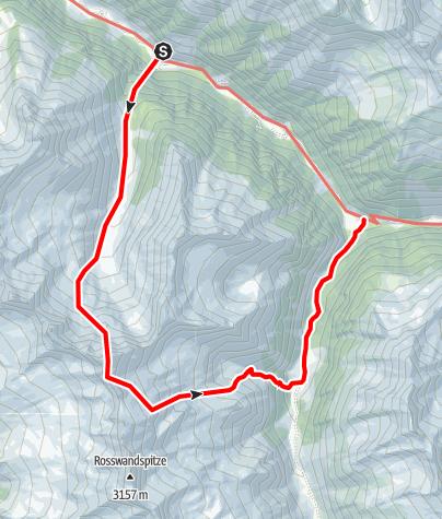 Karte / Grundschartner Nordkante (VI / V+ A0)