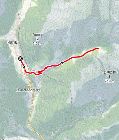 Karte / Zufahrt Säuleck (Konradhütte)
