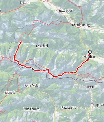 Karte / Pilgern nach Maria Luggau