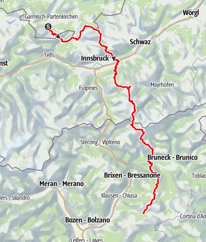 Karte / Alpenüberquerung Nils & Sebastian