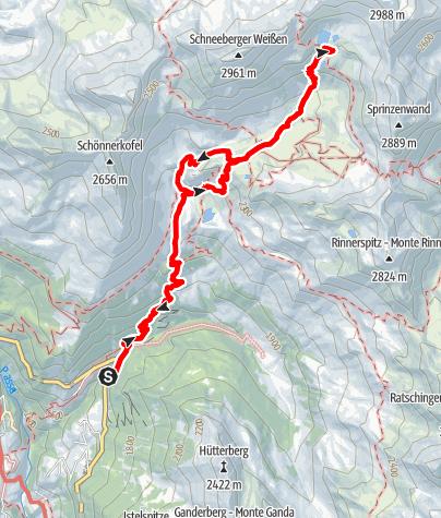 Karte / Über St. Martin am Schneeberg zum Kleinen Schwarzsee