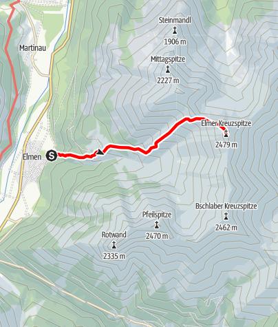 Karte / Elmer Kreuzspitze
