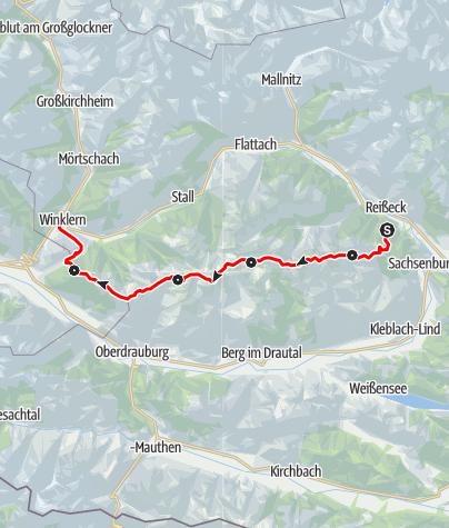 Map / Hüttentour Kreuzeck-Höhenweg