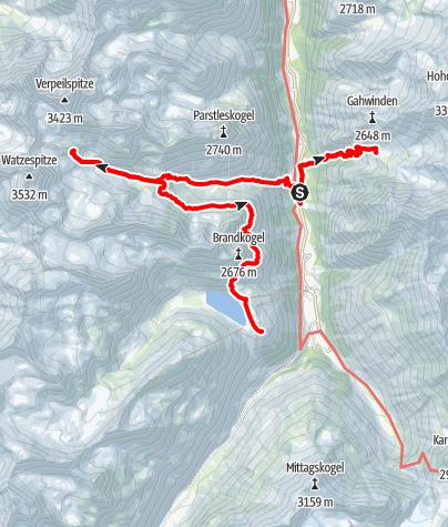Map / Pitztal Hütten Tour für 3 Tage