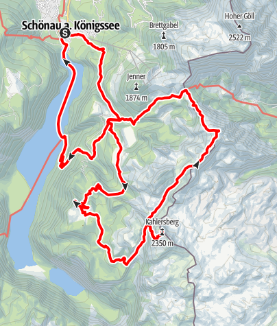 Karte / 3 Tage Tour über  Gotzenalm & Stahlhaus