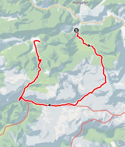 Karte / Wanderung von Wildalpen über sein Schafhalssattel