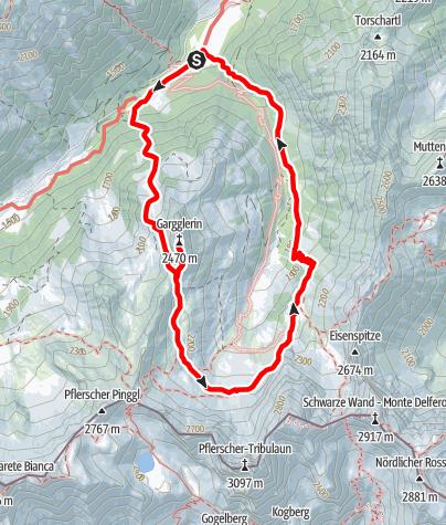 Map / Gargglerin - Tribulaunhaus