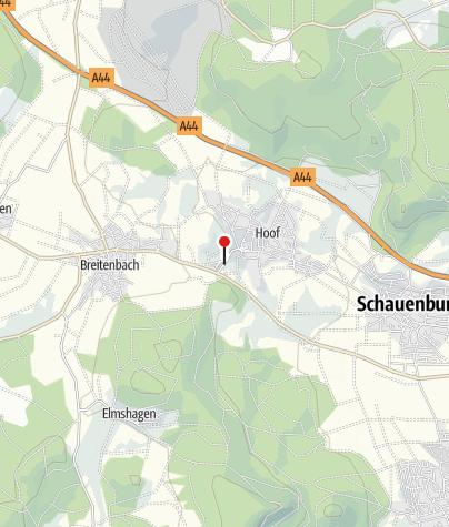 Karte / Hoof-Bahnhof