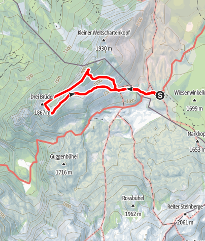 Karte / Großer Weitschartenkopf / Großer Bruder