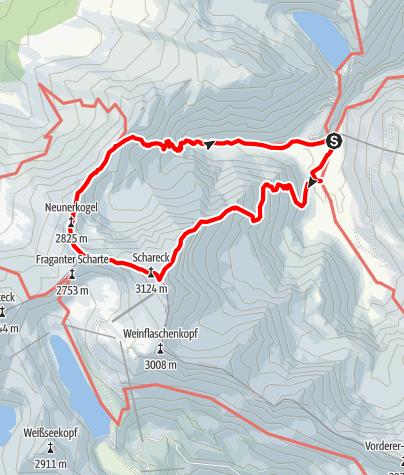 Karte / Schareck - Ueberschreitung