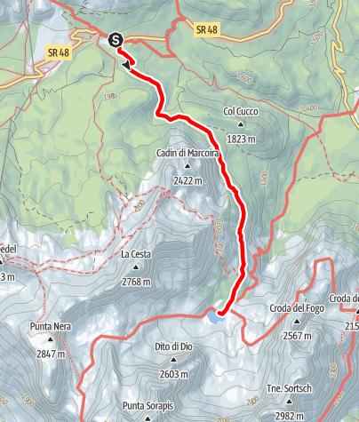 Map / Lago di Sorapis (Cortina d' Ampezzo)