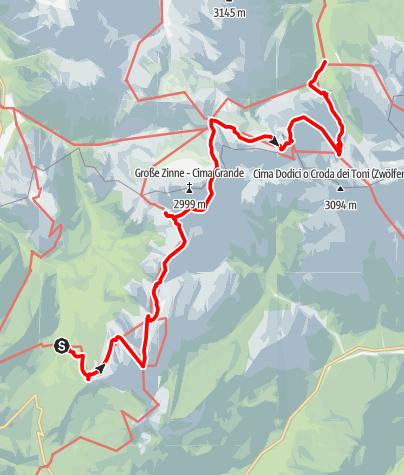 Karte / Misurina See-Talschusshütte