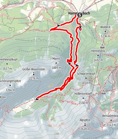 Karte / Höllentalangerhütte