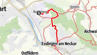 Karte / Rotenberg (Grabkapelle) nach Esslingen