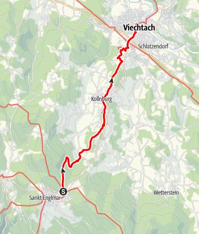 Karte / Baierweg 2,3 St. Englmar - Viechtach
